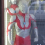 Ultraman store display from outside