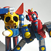 Bandai Magnetic Gaiking and Combattra vinyls